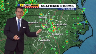 Scattered storms move in on top of heat and humidity