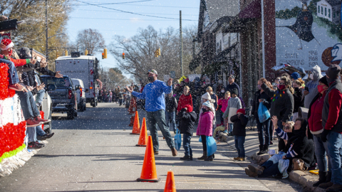 Scenes from Youngsville's 2020 Christmas parade