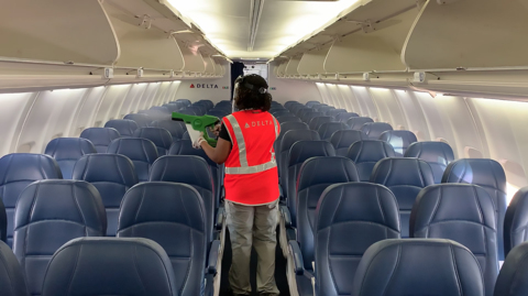 Delta Air Lines fights coronavirus with masks, electrostatic sprayers