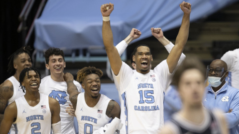 UNC's Garrison Brooks cherishes the moment of his final home game as a Tar Heel