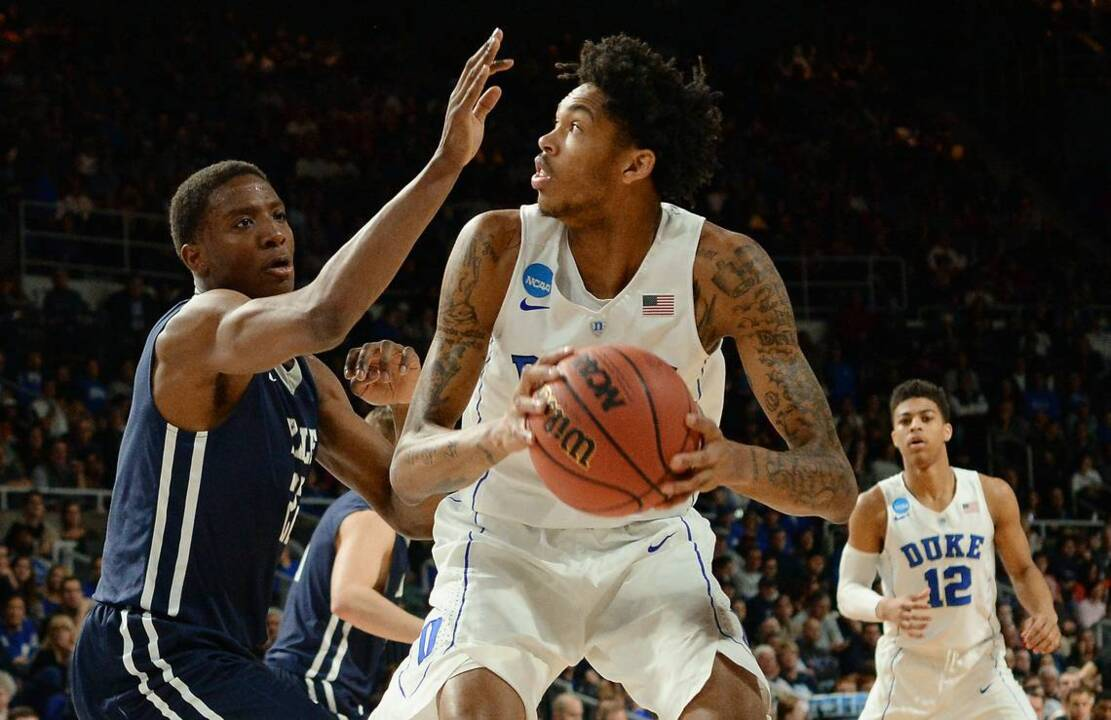 5f84f9eb12c6 Duke Blue Devil Brandon Ingram goes No. 2 to the Los Angeles Lakers in the  NBA Draft