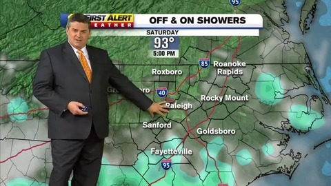 After overnight flooding in central NC, storms and extreme heat predicted for Friday