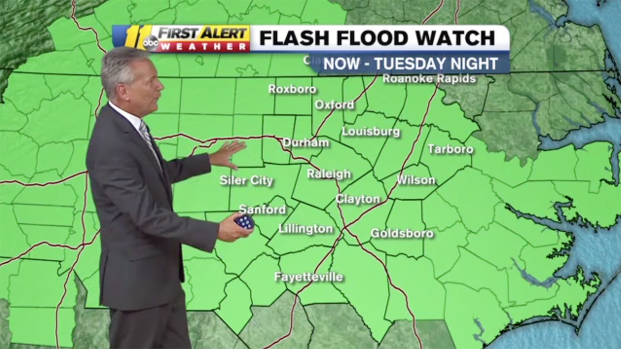 Strong storms, possible flooding in the forecast for NC