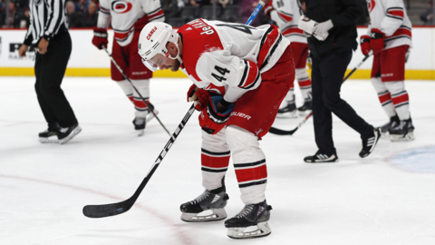 Canes' Calvin de Haan: 'I was pretty much blind for 48 hours'