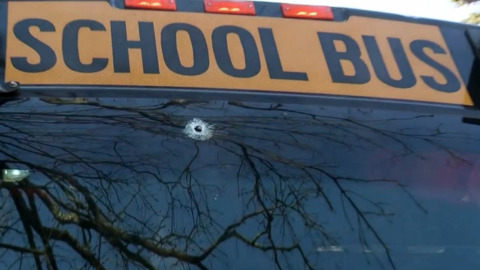 Durham school bus hit by stray bullet; driver treated for injuries from flying glass