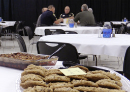 Church seniors 'lift' police with a full belly and prayer in Rock Hill
