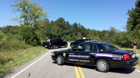Burned body found in Chester County; road blocked as investigation underway