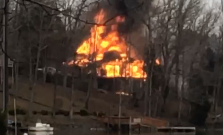 Lake Wylie lakefront home destroyed by fire, officials say