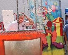 Congressman, sheriff take dip in dunk booth to support foundation in murdered detective's honor