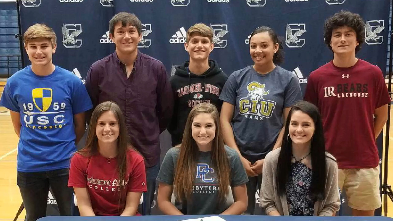 Eight Clover Blue Eagles will play college sports | Rock