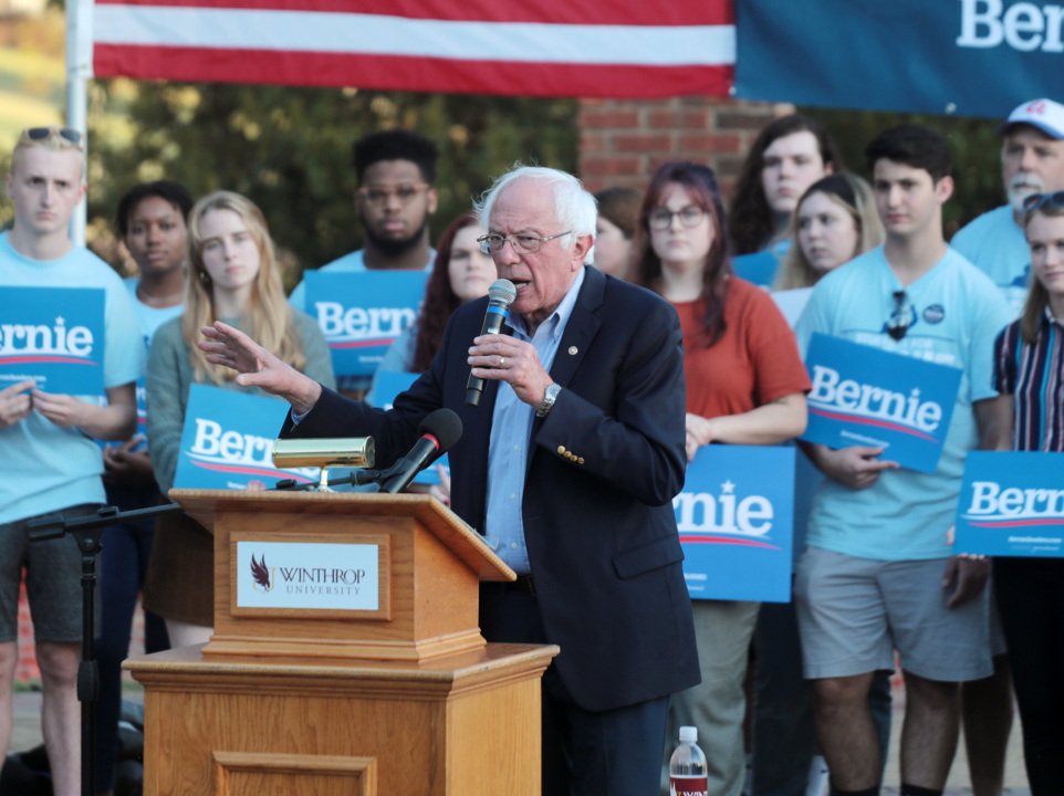 'Not me. Us.': Presidential hopeful Bernie Sanders calls for action at Rock Hill rally