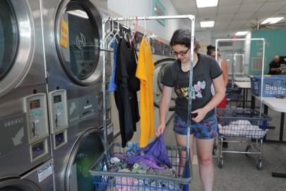 Not just about clean socks. Clover ministry gives back through free laundry days.