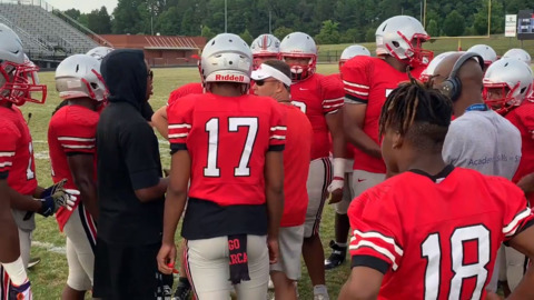 Highlights from first South Pointe spring football scrimmage under DeVonte Holloman