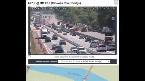 Here's an I-77 traffic update from the Catawba River Bridge construction