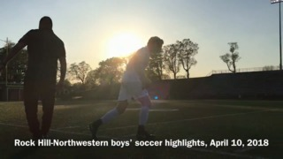 Highlights from the Northwestern-Rock Hill Cherry Road Classico boys soccer rivalry