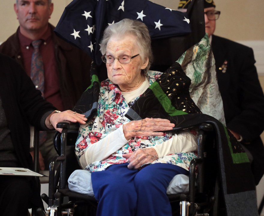 'It's a very great honor': Veterans honored with Quilts of Valor in Chester ceremony