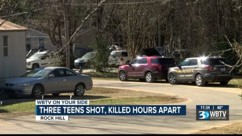 Three teens were shot and killed over the weekend