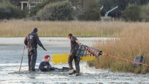 Hilton Head firefighters reach woman trapped in pluff mud up to her waist