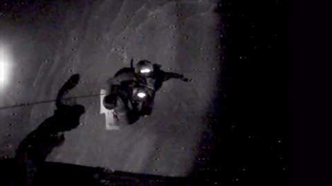 Watch rescue diver pull man from sinking ship to Coast Guard helicopter off SC coast