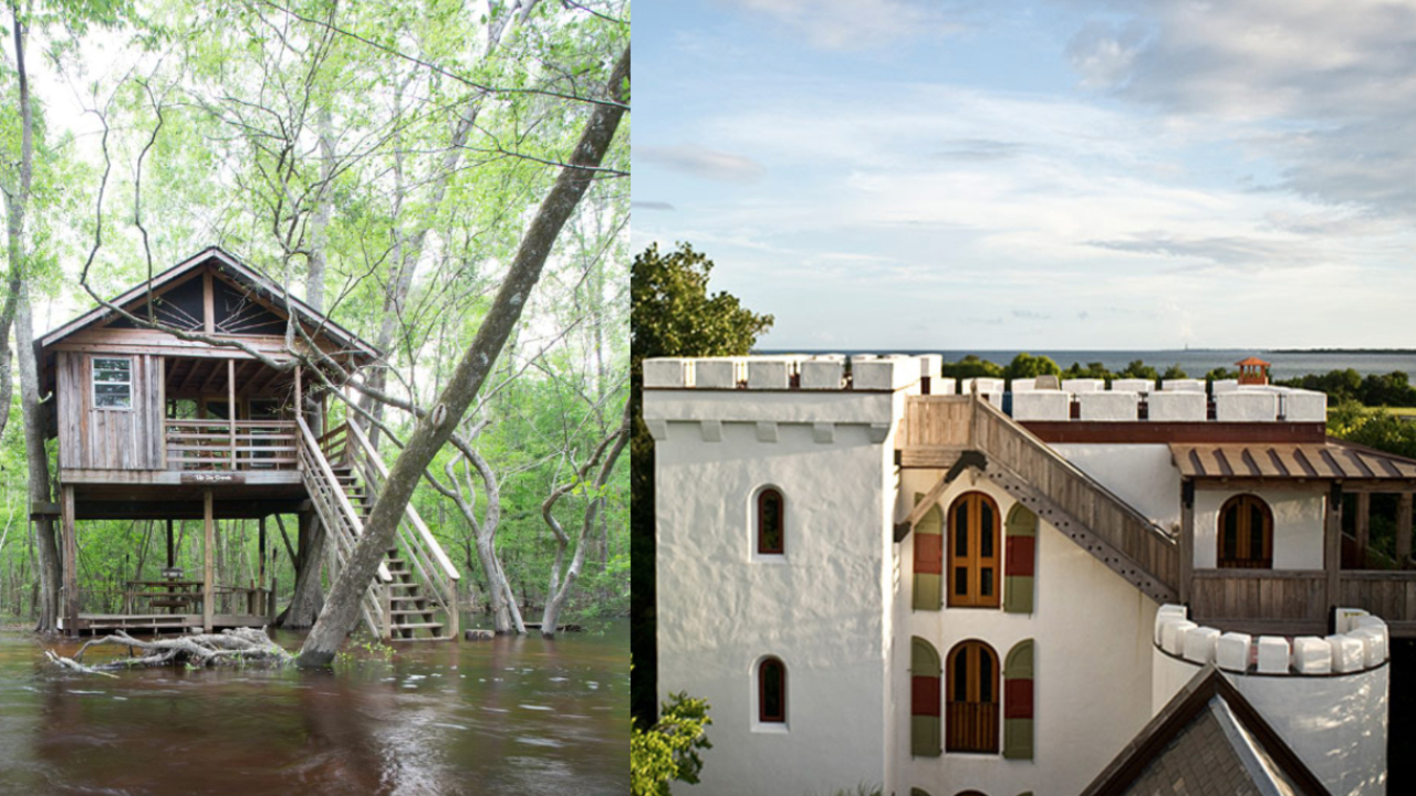 4 amazing, unique places to stay in SC — including a treehouse, castle, train caboose