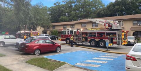 Cellphone video shows responders at Hilton Head's Sandalwood apartments for fire