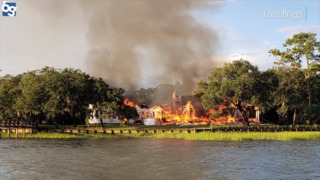 Here's the destruction of Lady's Island mansion struck by lightning, engulfed by fire