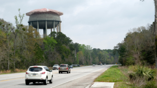 Have you seen this 'bonnet' on this Beaufort water tower? Here's what it is