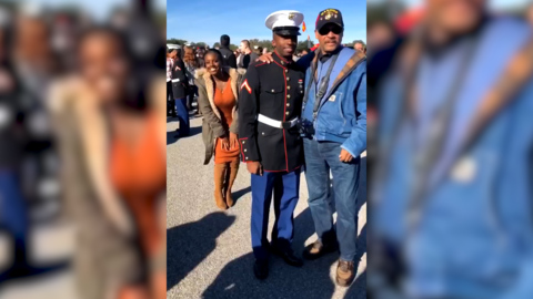 Girlfriend surprises Marine at Parris Island graduation. His reaction was 'priceless'