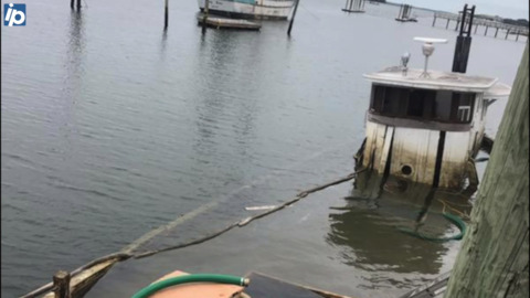 Sunk oyster boat from the 1900s refloated on Hilton Head. Here is what she looks like