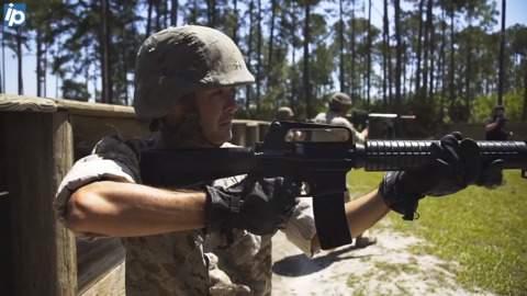 NASCAR driver experiences a 'day in the life' of a Marine recruit at Parris Island