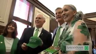 VP Mike Pence welcomed at Savannah's City Hall before St. Patrick's Day Parade
