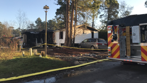 2 people killed in Bluffton mobile home fire early Thursday. 4 others injured, officials say