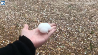 Watch as 'golf ball-sized' hail falls across Hilton Head Island on first day of Spring