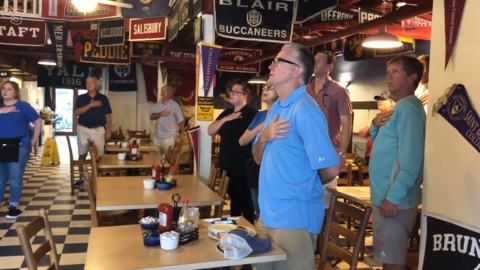 Beaufort restaurant practices patriotism daily. Here's when you can check it out