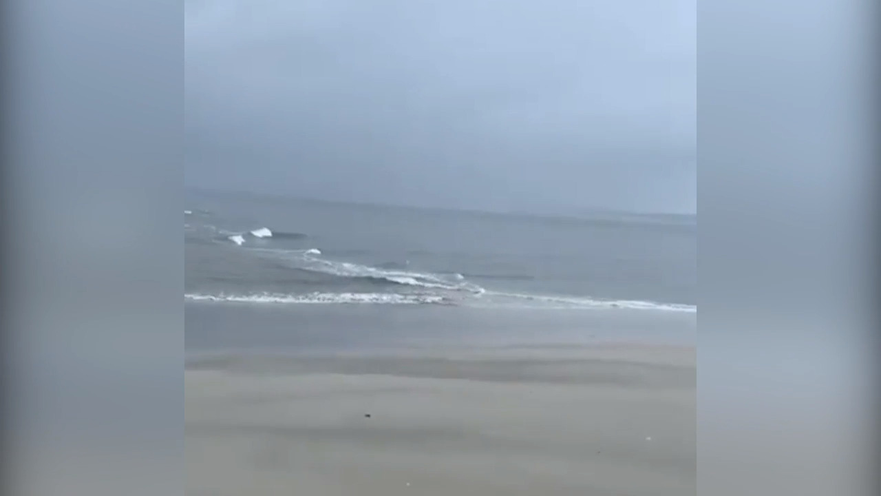 Video shows strong rip current from Hurricane Dorian on