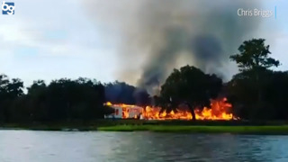 Video shows massive fire at a waterfront plantation home on Lady's Island