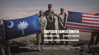 Gubernatorial candidate James Smith sites military and legislature experience in campaign ad