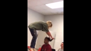 Video shows SC teacher standing on student's desk and pulling his hair