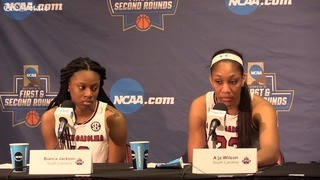 A'ja Wilson explains why the Gamecocks struggled in the first NCAA round