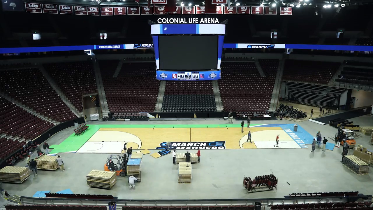 Time-lapse video: Colonial Life Arena transformed for NCAA Tournament