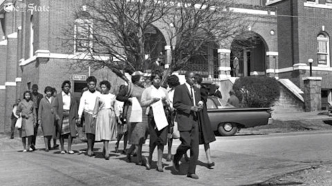 1961 march on the SC State House recognized with marker