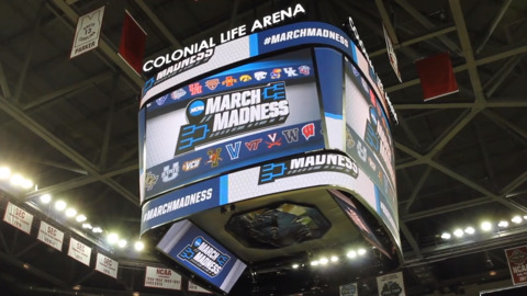 Sights and sounds of the NCAA practice round in Columbia