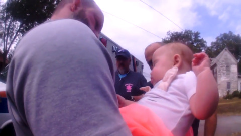 Choking 4-month-old baby saved by South Carolina police officer in dramatic video