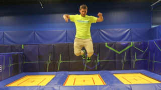 Jumping is a way of life for this mamager