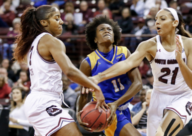 Gamecocks step out with faster pace game against Lander
