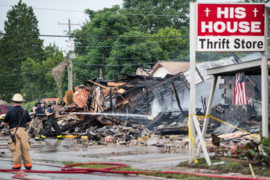 Fire destroys His House thrift store in West Columbia