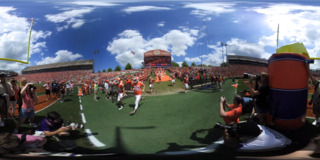 See Clemson kick off the Spring Game in 360