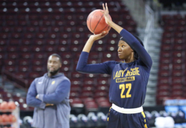 Keenan graduate Le'on Hill thought she'd never play in Colonial Life Arena again. A trip to play the Gamecocks in the NCAA tournament changed that