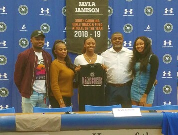 Jayla Jamison signs with South Carolina track and field