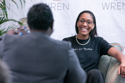 A'ja Wilson, the public speaker, shares the story about the LeBron tweet